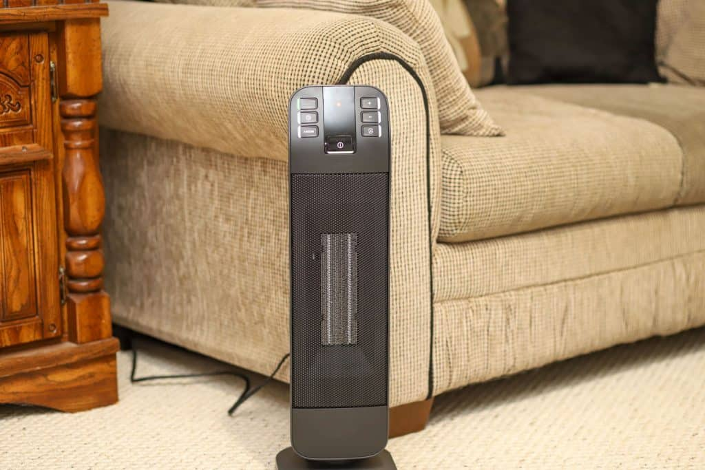 A space heater inside the living room