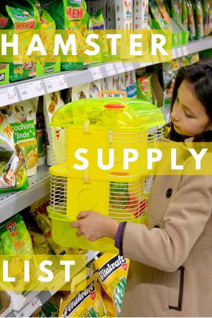 Hamster Supply List